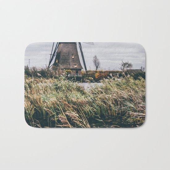 Kinderdijk Windmill Bath Mat