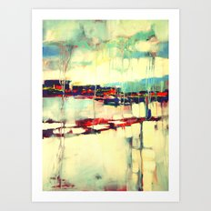 Warsaw III - abstraction Art Print