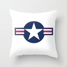 Air force plane symbol - High Quality image Throw Pillow