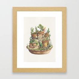 Succulent Village Framed Art Print
