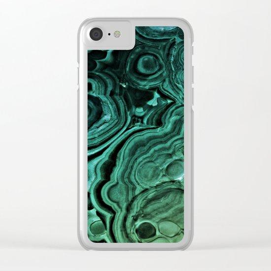 MALACHITE Clear iPhone Case
