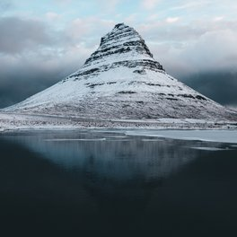 Bath Mat - Iceland Mountain Reflection - Landscape Photography - regnumsaturni