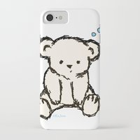 teddy bear iPhone & iPod Cases featuring Teddy by RaJess