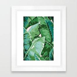 Banana leaf grandeur II Framed Art Print