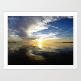 California Sunset - Encinitas, CA Art Print