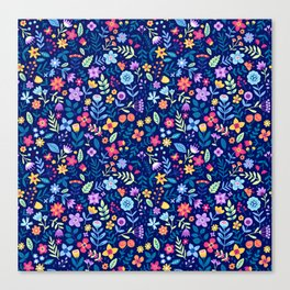 "Cute Floral pattern in the small flower. ""Ditsy print"". Vintage. Canvas Print"