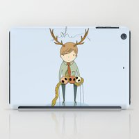 antler iPad Cases featuring Antler boy by bearfish