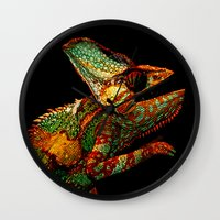 bruce springsteen Wall Clocks featuring KARMA CHAMELEON by Catspaws