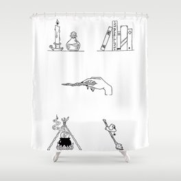 Witch Halloween Themed Design Shower Curtain
