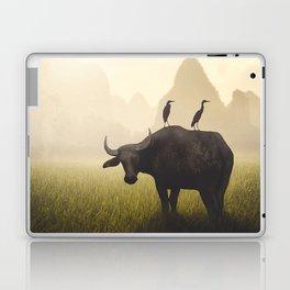 Water Buffalo And Egrets Laptop & iPad Skin