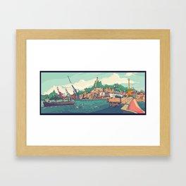 Neboas de Vigo Framed Art Print