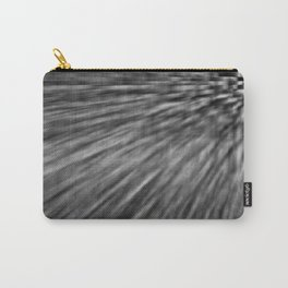 Slate Gray Pixel Wind Carry-All Pouch