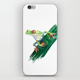 Frog. Watercolor illustration. Hand drawing iPhone Skin