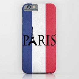 Grunge Paris iPhone Case