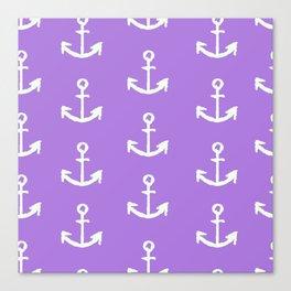 Anchors - Purple Canvas Print