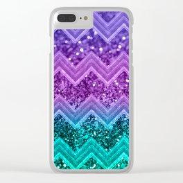 Unicorn Glitter Chevron #3 #shiny #decor #art #society6 Clear iPhone Case