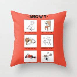 Snowy Meme Throw Pillow