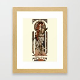 Steampunk Nouveau 2- Cream Framed Art Print