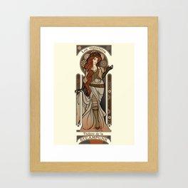 Steampunk Nouveau 2- Cream Framed Art Print