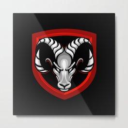 Goat head symbol Metal Print