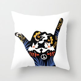 Peace Love and Pipe Dreams Throw Pillow