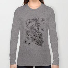 Nocturnal Black Swan-Peacock Long Sleeve T-shirt