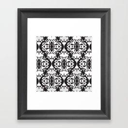 Lace Damask Framed Art Print