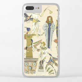 Vintage Egyptian Women Clear iPhone Case