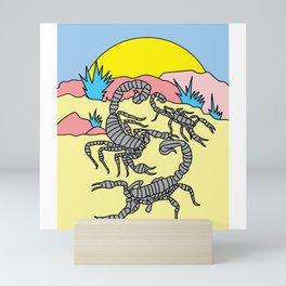 Scorpios Retro Environment Zodiac Sign Mini Art Print
