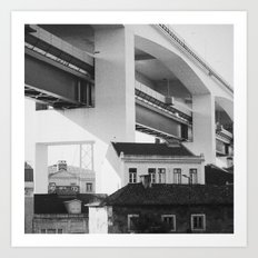 25 de Abril Bridge, Lisbon Art Print
