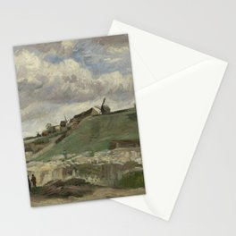 The Hill of Montmartre with Stone Quarry Stationery Cards