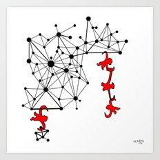 the Monkeys Art Print