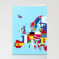 europe Stationery Cards featuring Europe flags by SebinLondon