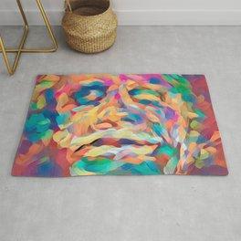 Abstract Rainbow Camouflage I Rug