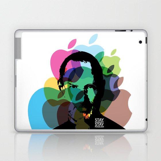 Lab No. 4 - Steve Jobs Inspirational Typography Print Poster Laptop & iPad Skin