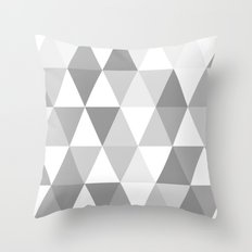 shades of grey triangles Throw Pillow