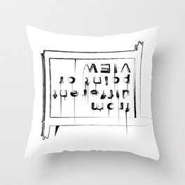 Statement shirt - Different point of view Throw Pillow