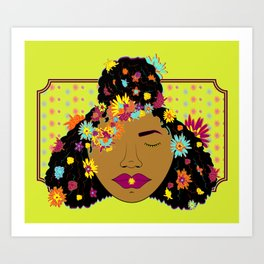 Radiant Hues~ Top Knot Babe Art Print