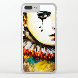 Who's the clown? Clear iPhone Case