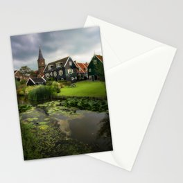 Canal View of Pretty Dutch Village, Marken Stationery Cards