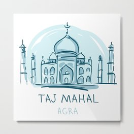 Agra 01 Metal Print
