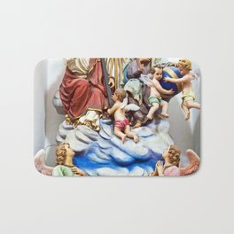 ANGELS - JESUS - GOD - SICILY - Church of THE GODFATHER - Forza d'Agro Bath Mat