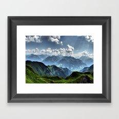 Mountain Peaks in Austria Framed Art Print