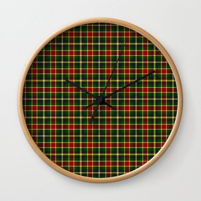MacLachlan Hunting Tartan Plaid Wall Clock