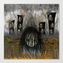 Fiery Guilt Canvas Print