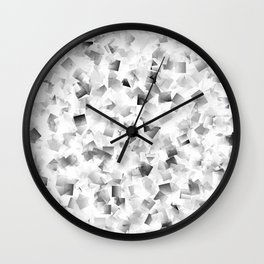 many small colored squares shaded superimposed Wall Clock