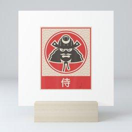 """Samurai""  Retro Japanese Anime T-Shirt Mini Art Print"
