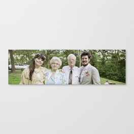 With the Grandparents Canvas Print