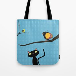 Blue Sky Birdwatching Tote Bag