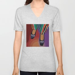 100% Girls - A shoe can save the day Unisex V-Neck